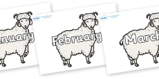 Months of the Year on Small Billy Goats
