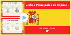 Verbs to 'Be' and to 'Have' Present Tense Spanish PowerPoint