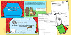 Properties of Different Materials Differentiated Lesson Teaching Pack