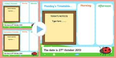 KS1 Visual Timetable Interactive PowerPoint Editable