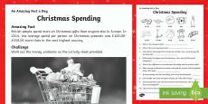 Christmas Spending Activity Sheet
