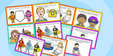 Super Hero Role Play Challenge Cards Arabic