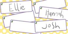Kingfisher Drawer Peg Name Labels