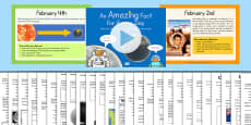 An Amazing Fact a Day February PowerPoint and Activity Sheet Pack