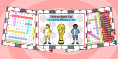 Football World Cup Interactive Wordsearches PowerPoint