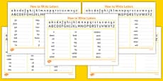 Handwriting Strip With High Frequency Words Practice