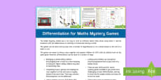 * NEW * Differentiation for LKS2 Maths Mystery Adult Guidance