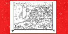 * NEW * Crazy Christmas Coloring Challenge Activity Sheet