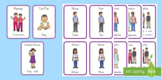 Family Relationships Flashcards English/Te Reo Maori