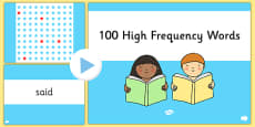 100 High Frequency Words PPT Presentation