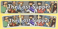 The Last Supper Display Banner