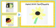 Hand Print Sunflowers Craft PowerPoint