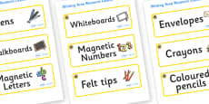 Sunflower Themed Editable Writing Area Resource Labels