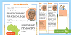 * NEW * KS1 Nelson Mandela Differentiated Fact File