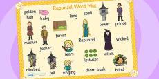 Rapunzel Word Mat (Images)