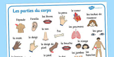 My Body Word Mat French