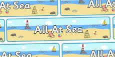 'All At Sea' Display Banner