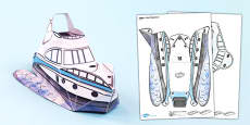 Transport Paper Model Boat