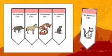 Editable Chinese New Year Bookmarks