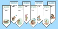 The Story of Miss Moppet Editable Bookmarks