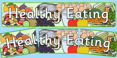 Healthy Eating Display Banner