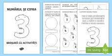 * NEW * Numărul și cifra 3 Broșură cu activități