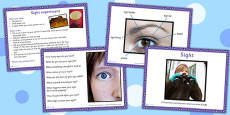 KS1 Science Senses Sight PowerPoint