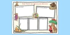 Beatrix Potter - The Tale of Benjamin Bunny Book Review Writing Frame