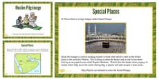 KS1 Places of Muslim Pilgrimage Teaching and Task Setting PowerPoint