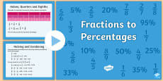 UKS2 Fractions to Percentages PowerPoint
