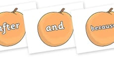 Connectives on Giant Peach to Support Teaching on James and the Giant Peach