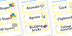 Topaz Themed Editable Classroom Resource Labels