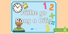 Welcome to Fifth Class Display Poster Gaeilge