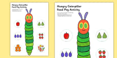 Food Peg Activity to Support Teaching on The Very Hungry Caterpillar