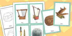 Ancient Sumer Invention Cards Work Sheet