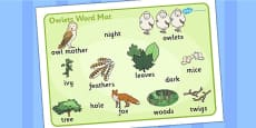 Owl Word Mat (Images)