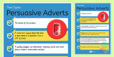 Text Types Guide Persuasive Writing Display Poster