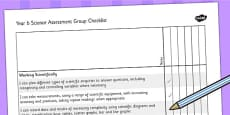 2014 Curriculum Year 6 Science Assessment Group Checklist