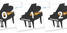 Numbers 0-31 on Baby Grand Pianos