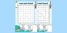 Word Search to Support Teaching on Lost and Found