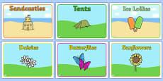 Editable Class Group Signs (Summer)