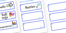 Sapphire Blue Themed Editable Additional Resource Labels