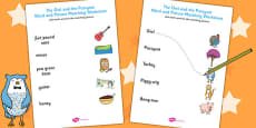 The Owl and the Pussycat Word and Picture Matching Activity Sheet