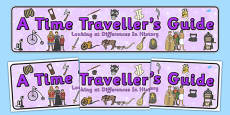 A Time Traveller's Guide Display Banner