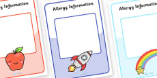 Editable Allergy Information Sheets (A4)