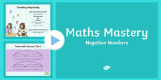 Year 6 Number and Place Value Negative Numbers Maths Mastery PowerPoint