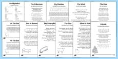Mixed KS1 Poems Resource Pack