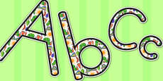 Australia - Display Lettering to Support Teaching on The Very Hungry Caterpillar