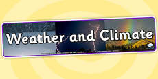 Weather and Climate Photo Display Banner