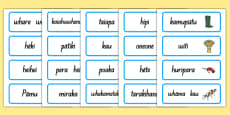 The Farm Word Cards Te Reo Māori